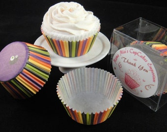 Halloween Stripes and Spider Cupcake Liners