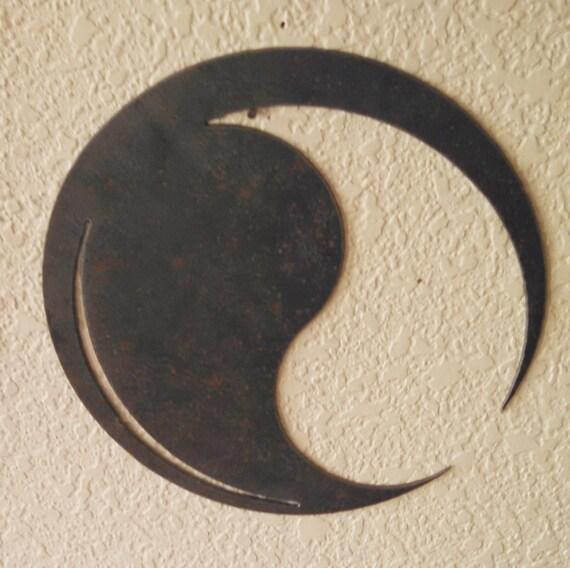 Modern Yin Yang Recycled Steel
