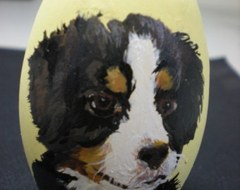Hand Painted Custom Easter Eggs~Pet portraits, people portraits and XL Eggs