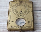 boy scout sun watch : brass compass No. 1488