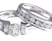 14k white gold round cut diamond engagement ring band tension 1.25ct h-vs2 egl