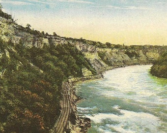 The Whirlpool Rapids View From Spanish Aero Cable Car Niagara Falls Unused Vintage Postcard
