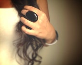 Black Onyx Ring, Large Stone Ring, Statement Ring, Cocktail Ring, Chunky Ring, Bohemian Ring, Bohemian Jewelry