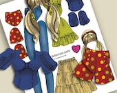 Bohemian Flower-child Clothes for JoeBobLeigh PEACE & PINK Posable Paperdoll
