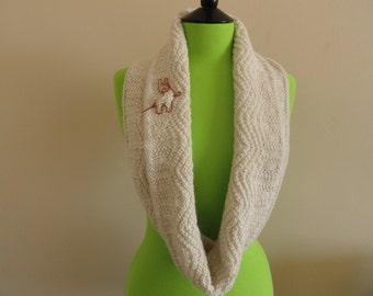 Natural white alpaca eternity cowl