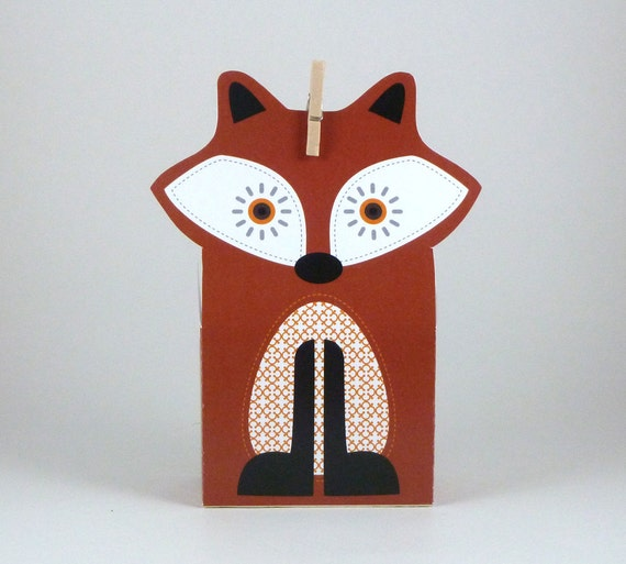 DIY Woodland Fox Gift Bag Templates Party Favors Loot Bags