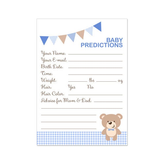Fan image in baby prediction cards free printable