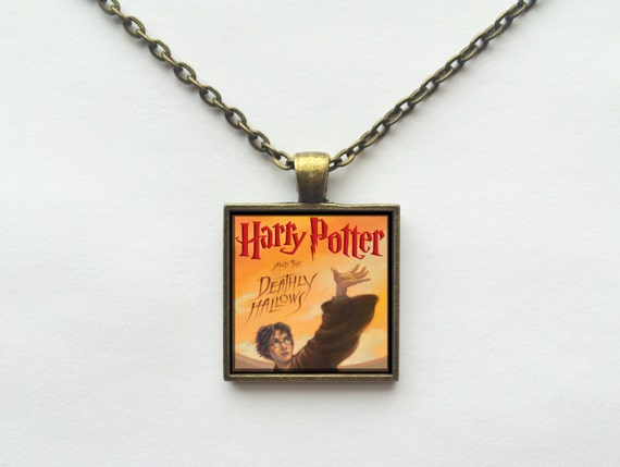 Harry Potter and the Deathly Hallows Book Cover Necklace OR Keychain
