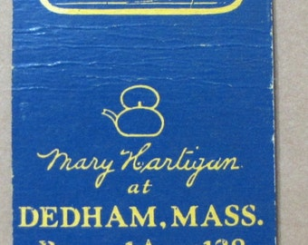 1940s Mary Hartigan Dedham MA Diamond Match Company