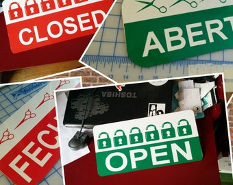 Open closed sign / open sign / closed sign/ flip sign / aluminum sign