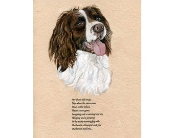 Custom Pet Portrait on Chosen by you Text - Original Watercolor Painting 10x8 inches