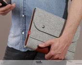 Tablet case, felt, leather, iPad Air 2, Samsung Galaxy Galaxy Tab 4, Corriedale SIZE S - CO-S-GLB