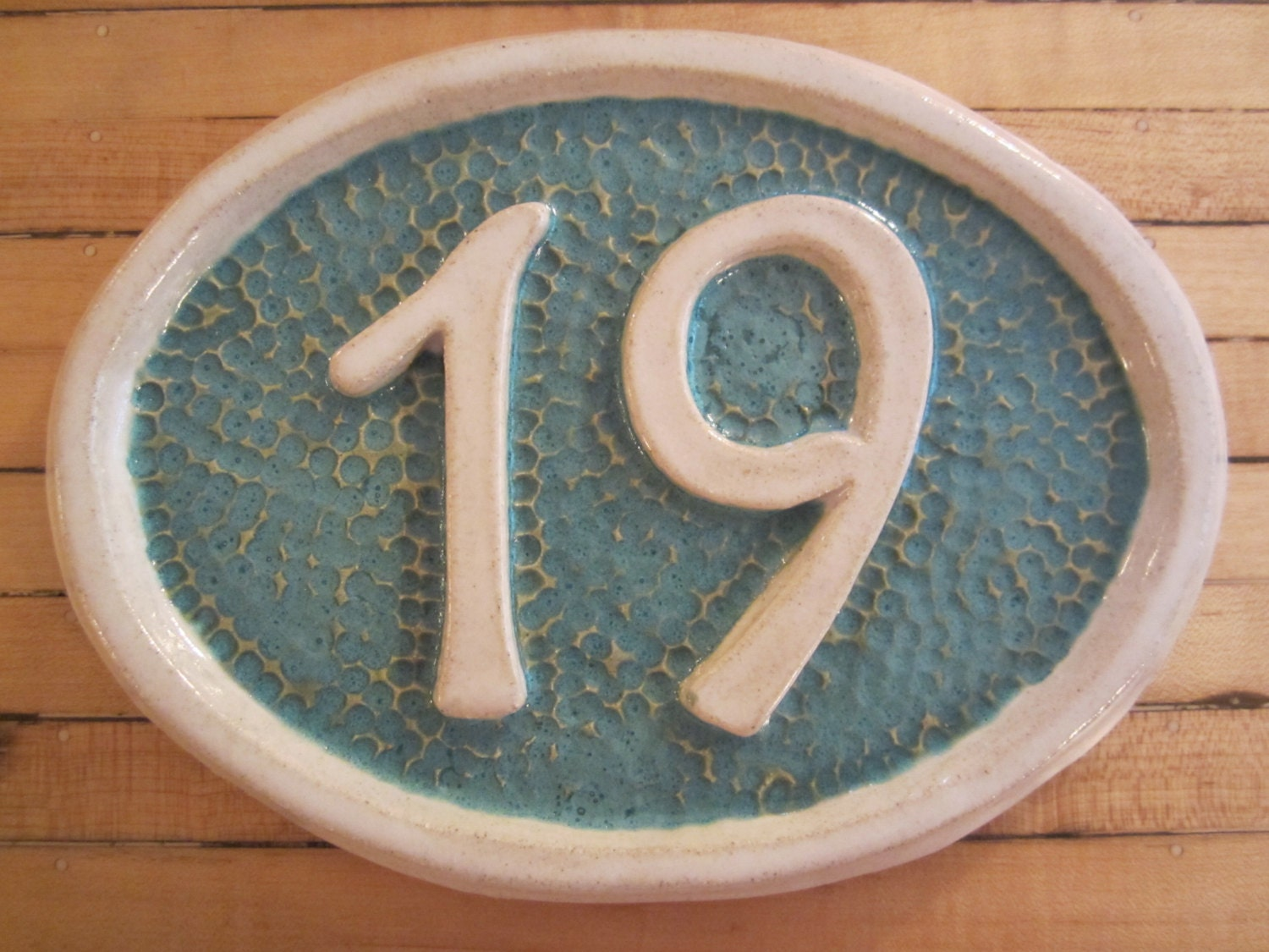 Two Number Custom Ceramic House Number Plaque Tile