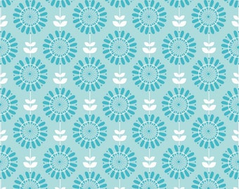 Riley Blake Fabric - 1 Yard of Twice as Nice Garden in Blue
