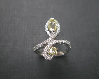 Marquise Yellow Diamond Engagement Ring in 14K Gold, Marquise Diamond Ring, Diamond Wedding Band, Marquise Engagement Ring, Yellow Diamond