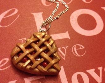 Cherry Pie Heart Necklace - Valentine's Day Gift