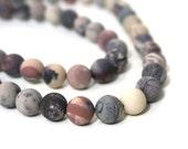 Matte Terra Rosa Jasper beads / Mexican Porcelain  / 10mm round / HALF strand / 617S