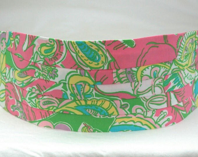 Cummerbund & Bow Tie, multi Chin Chin, groom formal wear, wedding party wear, Lilly menswear, tuxedo accessory, custom preppy cummerbund
