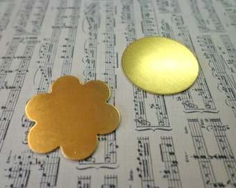 Circle and Flower Brass Blanks