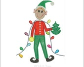 Santa's Elf Applique and Machine Embroidery Design from 2Art Zee