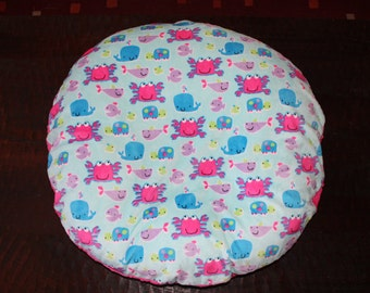 SALE-boppy lounger cover Under the sea minky with minky back
