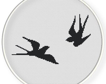 Instant Download,Free shipping,Cross stitch pattern, Cross-StitchPDF,swallows,zxxc0530