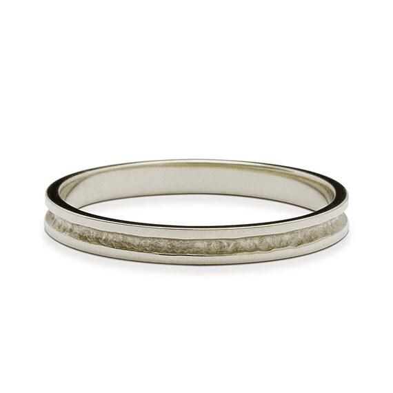 handmade 3mm hammered white gold wedding band hammered gold