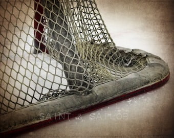Hockey Goal lower corner Photographic art Print, Boys Room decor, Boys Nursery Ideas, Sports art, Sport Prints, Man Cav