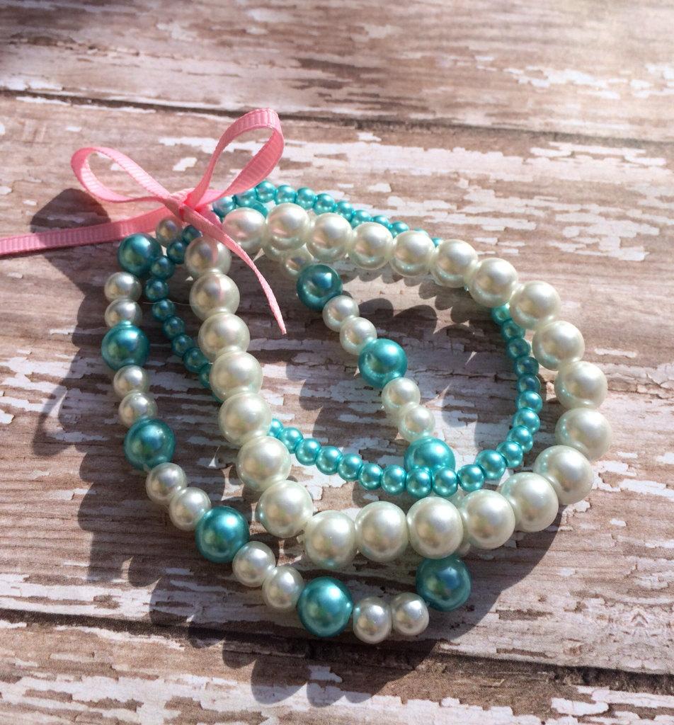 beaded bracelet stacked bracelet stretch by owlmakeitforyou