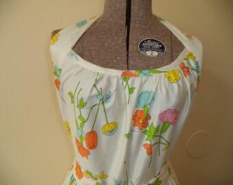 Beautiful Vintage Inspired Floral Print Halter Wrap Dress