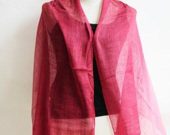 SC2, V Triple Red Cotton Scarf