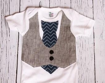 Baby Wedding Outfit // vest onesie// Baby Boy Clothes // Onesie Baby Boy // Baby Boy Onesie // photo pictures  // Sunday Best
