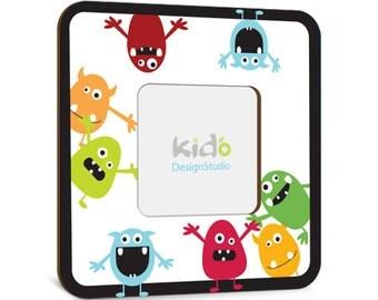 Nursery Monster Picture Frame, Custom Baby Gift Photo Frame