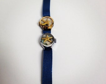 Two small Recycled/Upcycled Beach Watches