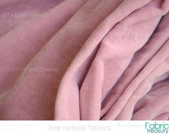 Nursery fabric by the yard. Pink velvet fabric by yard. Organic cotton velvet. Receiving blanket. VINTAGE MEMORIES. Minky soft. Cameo Pink