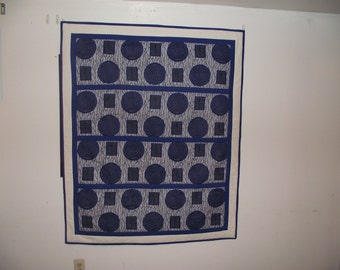 Delta Blue Quilt & Wall Hanging