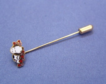 Vintage 1970's Aviva Snoopy Stick Pin Heart