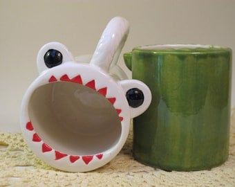 White Monster Mug