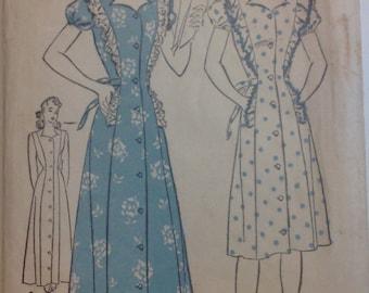 Vintage Advance Pattern 3657 Size 14 Misses Housecoat