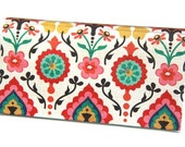CHECKBOOK COVER - Indian Floral