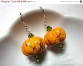 CLOSING SALE Earrings Sterling Silver Halloween Pumpkin