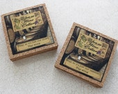 Funny Cork Coasters Set From Our Wine Cellar