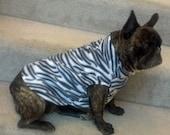 French Bulldog Zebra Fleece Jacket with Stand Up Collar