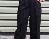 "Vintage Lightweight Tuxedo Pants Sz Small 1940s 40s black 28"" waist"