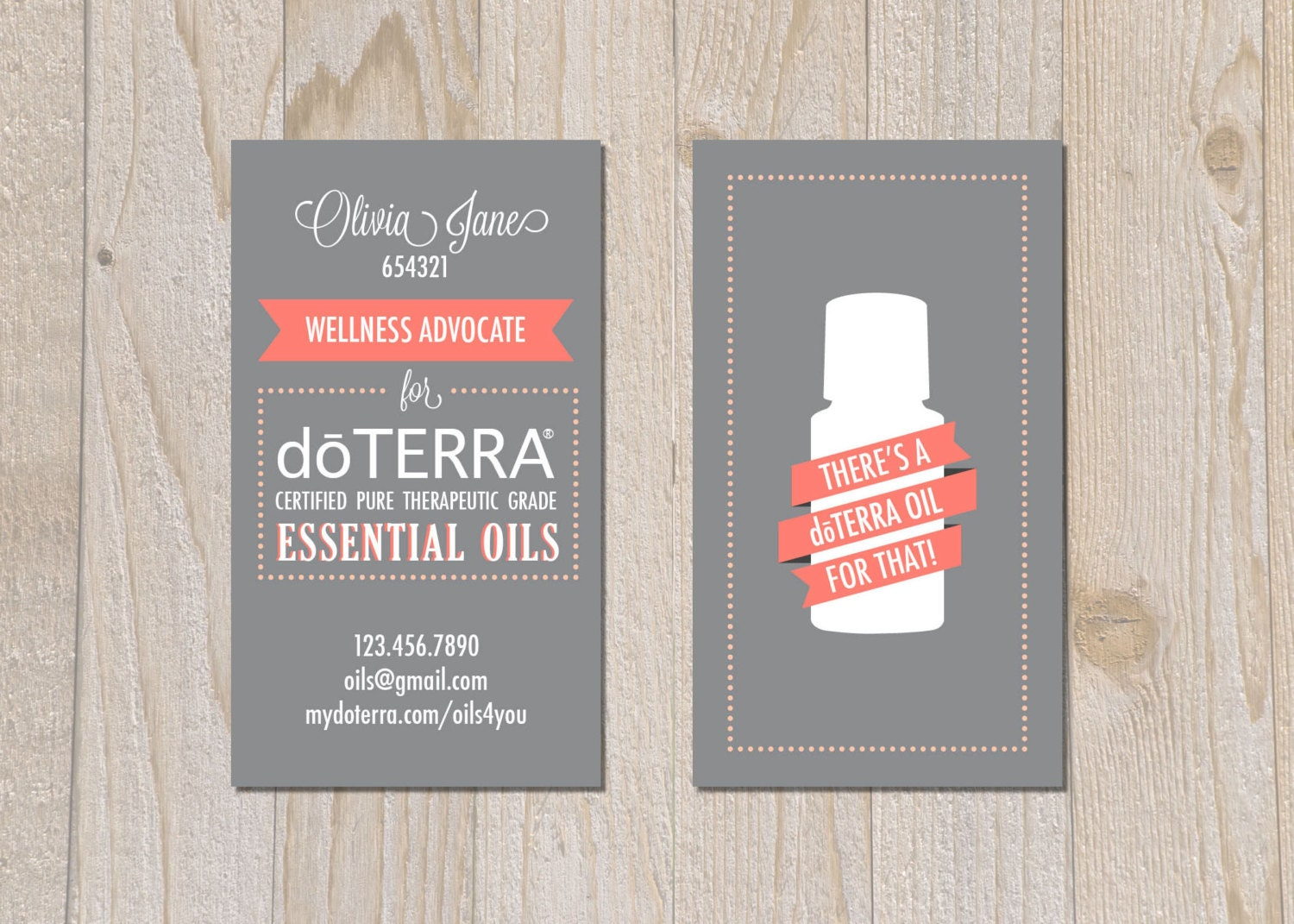 Items similar to brand doterra business cards digital for Doterra business card template