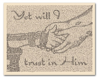 Yet Will I Trust in Him wall art