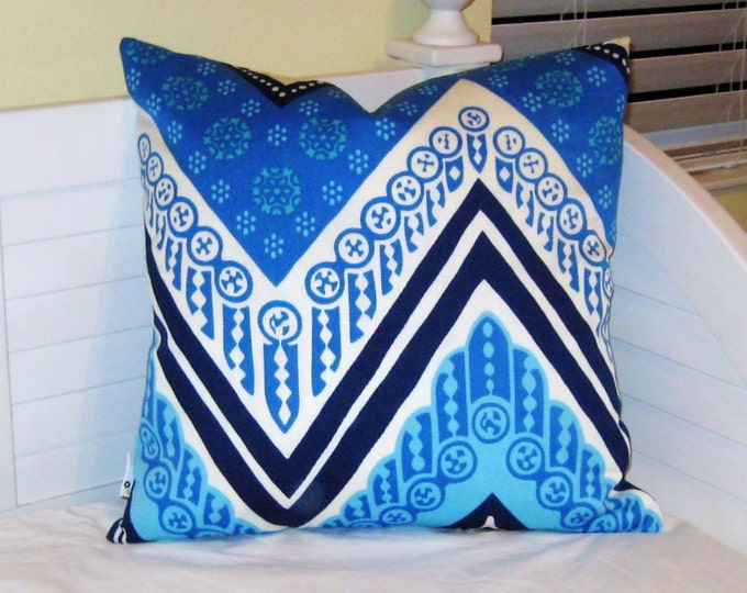LABOR DAY SALE, Trina Turk for Schumacher Tangier Frame (on Both Sides) Designer Pillow Cover  20x20