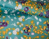 Indelible Collection, Floret Stains Tealberry, Designed Cotton Fabric, Quilting Weight