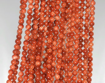 """2mm Gold Sandstone Round beads full strand 16"""" Loose Beads P142717"""