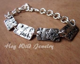 Sterling Silver Metal Clay Bracelet